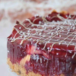 Strawberry Swirl Cheesecake standard decoration