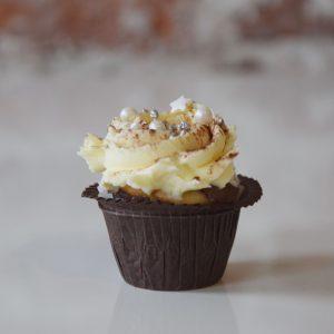 Mini Black Bottom Cupcake